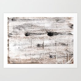 Ghost white abstract watercolor Art Print