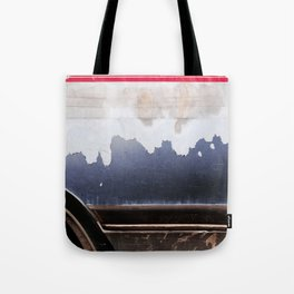Peeling Paint In Red White Blue Tote Bag