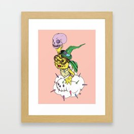 Lakitu in the Sky with Zombies Framed Art Print