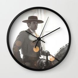 Bokeh rider Wall Clock