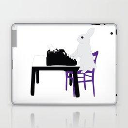 A Bunny's Life, animal gift, typing bunny, animal lover gift, bunny gift Laptop & iPad Skin