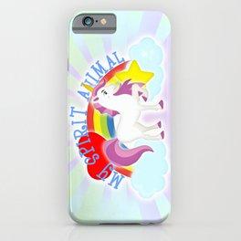 Unicorn is My Spirit Animal iPhone Case