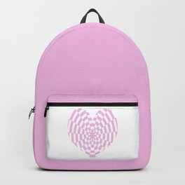 Monochrome Daze Pastel Pink Heart Backpack
