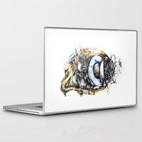 blade runner Laptop & iPad Skins featuring Sketchbook by Sandra Ink