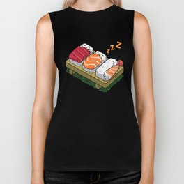 Sushi sleeping Biker Tank