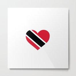 Trinidad and Tobago  love flag heart designs  Metal Print