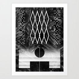 composition abstraite n°4 - mathéo Art Print