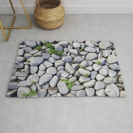 Sea Stones - Gray Rocks, Texture, Pattern Rug