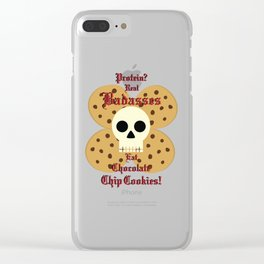 Real Badasses Eat Cookies! Clear iPhone Case
