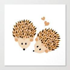 Hedgehogs Canvas Print