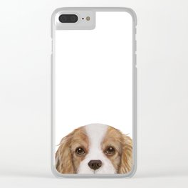 Cavalier King Charles Spaniel Dog illustration original painting print Clear iPhone Case