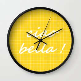 Ciao Bella! - yellow Wall Clock