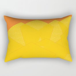 Colorful Yellow Abstract Shapes Rectangular Pillow
