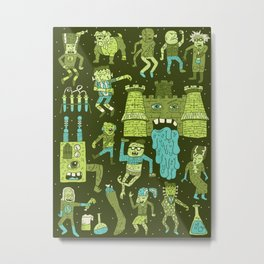 Wow! Frankensteins! Metal Print
