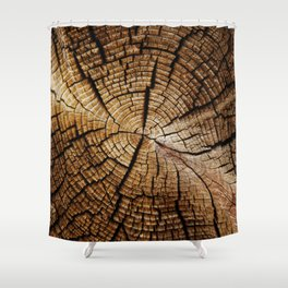 Ol' and weathered log Shower Curtain