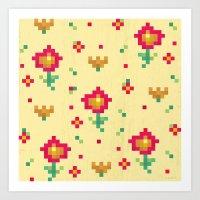 pixel Art Prints featuring Pixel by Kakel