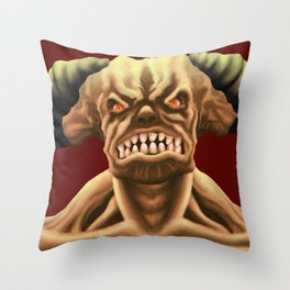 Cyberdemon from DOOM Throw Pillow