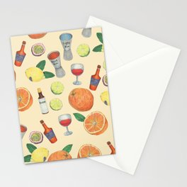 cocktail recipe pattern _ zombie Stationery Cards