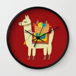 Cute Alpaca Character Funny Llama Luggage Wall Clock