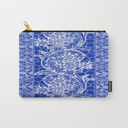 Vintage Lace Sapphire Blue Carry-All Pouch