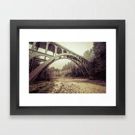 Cape Creek Bridge Oregon Coast Framed Art Print