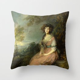 "Thomas Gainsborough ""Mrs. Richard Brinsley Sheridan"" Throw Pillow"