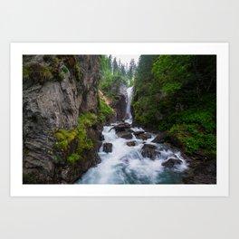 Rosenlaui Waterfall Art Print