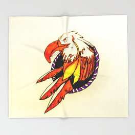 Eagle Dreamcatcher Throw Blanket