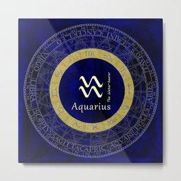 Aquarius Jan 20 To Feb 18 Metal Print
