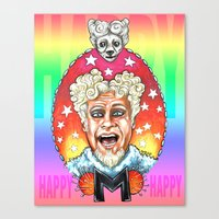 will ferrell Canvas Prints featuring Mugatu by Megan Mars
