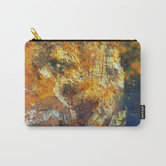 Yellow and Blue Wall Carry-All Pouch
