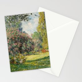 The Parc Monceau by Claude Monet Stationery Cards
