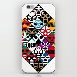 LUCHA---LIBRE iPhone Skin