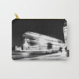 Bus passing Westminster B&W Carry-All Pouch