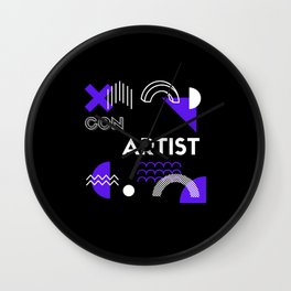 Con Artist Retro Wall Clock