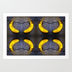 8 sad bananas geometry -001 Art Print