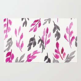 180726 Abstract Leaves Botanical 17 |Botanical Illustrations Rug