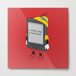 E-booknocchio Metal Print