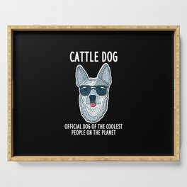 Official Dog Of The Coolest People On The Planet Serving Tray