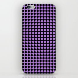 Black and Lavender Violet Diamonds iPhone Skin