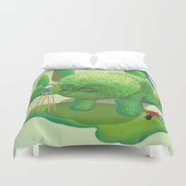 The Topiary Dog Duvet Cover