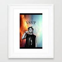 asap rocky Framed Art Prints featuring Asap Rocky V.S.V.P by Christopher Leonetti