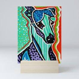 Willy Whippet Greyhound Saluki Italian Pharaoh Silken Manchester Fox Ibizan Designer Dog Puppy Pet Mini Art Print