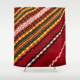Authentic Bulgarian tablecloth Shower Curtain
