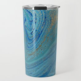 Turquoise Blue Watercolor Travel Mug