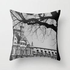 Louvre View Throw Pillow