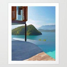 painting marine panoramic view of Brazil Art Print
