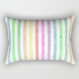 Rainbow lines with effect Rectangular Pillow