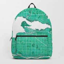 Vancouver City Map of Canada - Watercolor Backpack