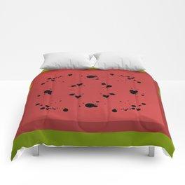 Watermelon is Sandía Comforters